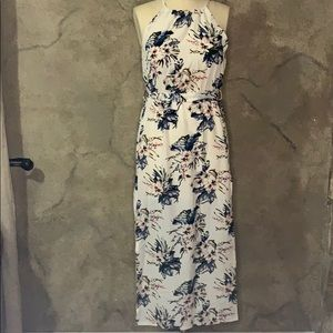 Floral dress with sash